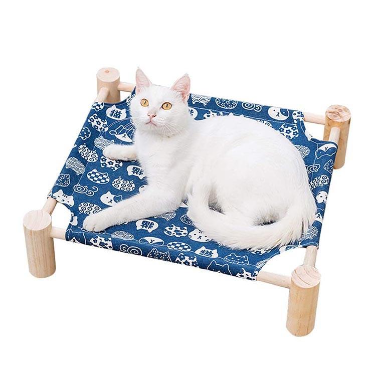 Detachable Portable Wood Pet Bed