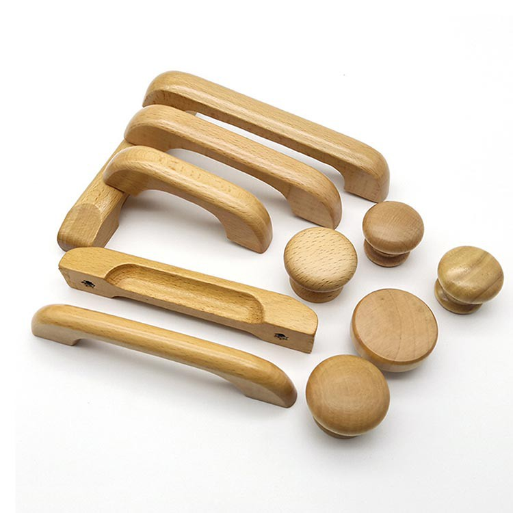 Wood Unfinished Drawer Knobs Pulls Handles