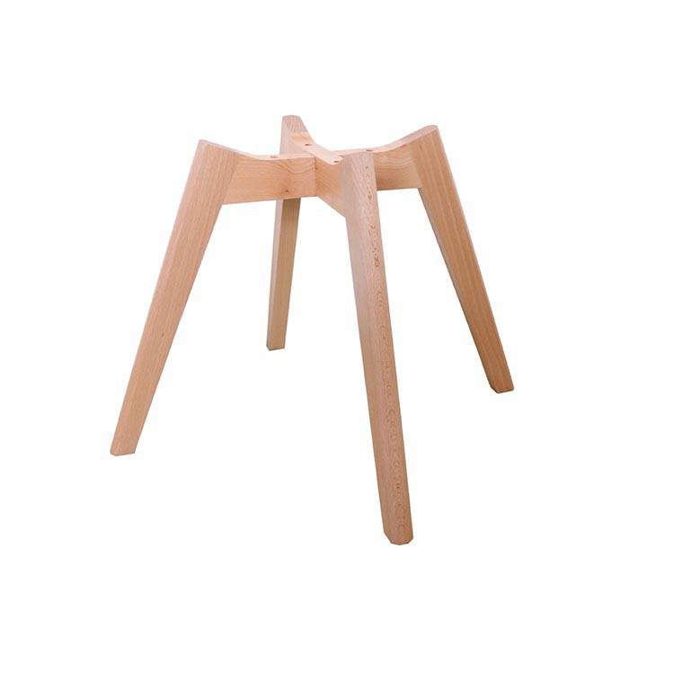 Solid wood leg